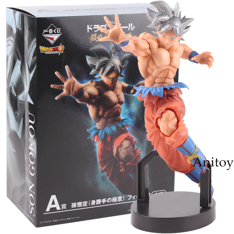 Action Figure Dragon Ball SUPER Ichiban Kuji A Son Goku Ultra Instinct Figure PVC Son Gokou Figures Collectible Model Toy цены онлайн
