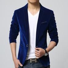 55e3aa551e blazer masculino black navy blue velvet men blazer slim fit casual suit  jacket fashion autumn winter