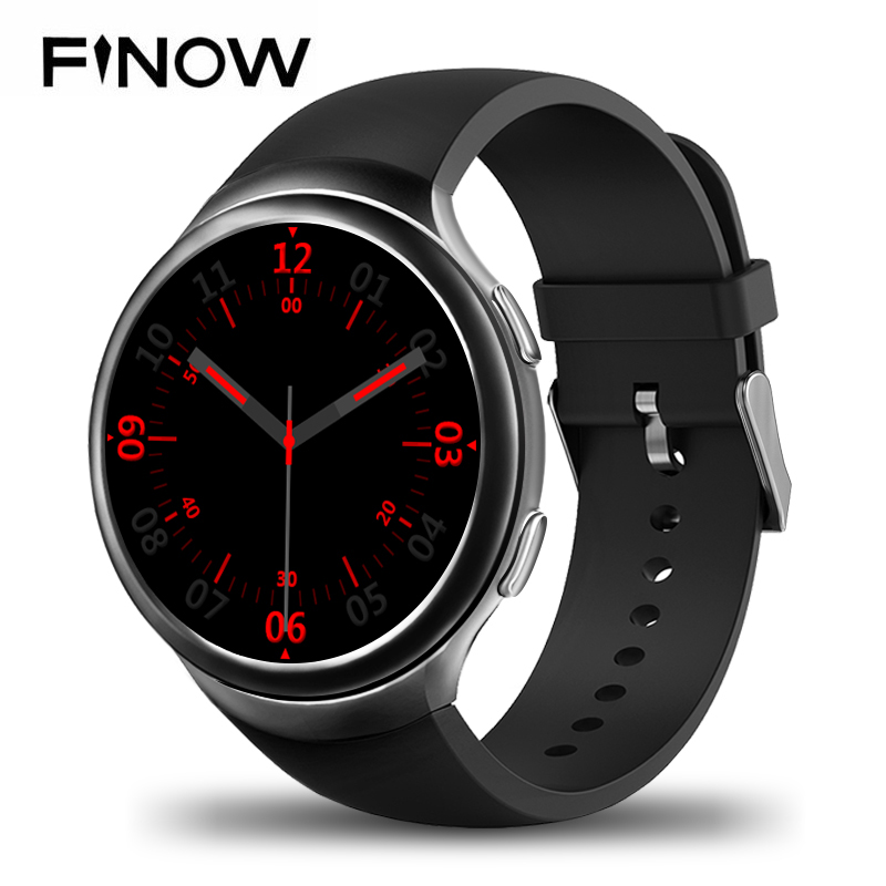 Finow X3 Plus K9 Bluetooth Smart Watch Android 5.1 MTK6580 Quad Core 1GB+8GB Heart Rate Smartwatch Clock For iOS Android PK KW88 smart watch smartwatch dm368 1 39 amoled display quad core bluetooth4 heart rate monitor wristwatch ios android phones pk k8