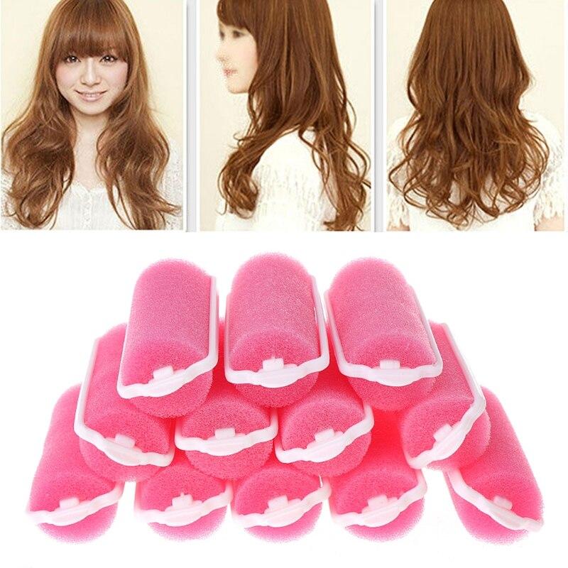 12Pcs Magic Sponge Foam Cushion Hair Styling Rollers Curlers Twist Tool HOT   U1JE
