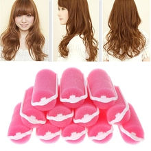 12Pcs Magic Sponge Foam Cushion Hair Styling Rollers Curlers