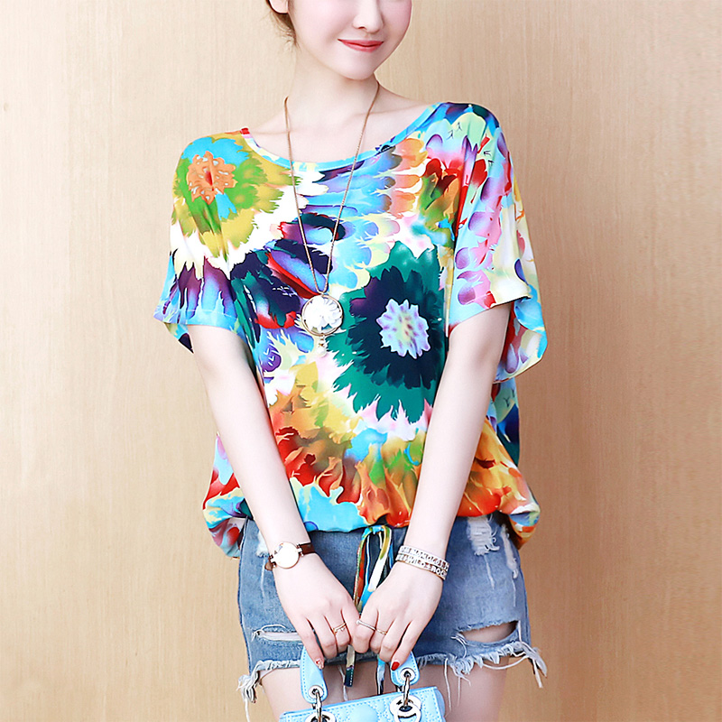 Summer   Blouse   Women Tops Plus Size 2019 New Arrival Ladies Elegant Chiffon Print   Blouses     Shirts   Female Casual Blusa Feminina