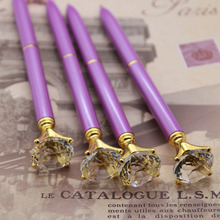 The New Purple Diamond Metal Big Ruby Crystal Glass Pen
