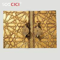 Custom Soft Fleece Throw Blanket Moroccan Decor Main Golden Gates Of Royal Palace In Marrakesh Morocco Travel Tourist Attraction