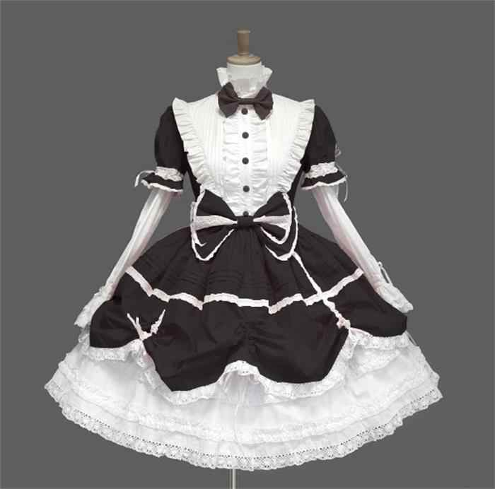 Женское платье принцессы на Хэллоуин викторианская готика Лолита платье костюм для косплэя Лолита леди горничной многослойное платье косплей игры