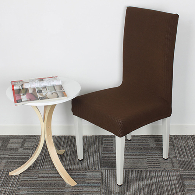 Yazi 1pc Super Fit Stretch Seat Cover Dining Room Chair Slipcover Protector Coffee Removable