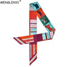Horse Printing Bag Scarf 2019 New Small Silk For Women Luxury Brand Foulard Tie Fashion Head Scarves Ladies