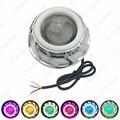 4x Universal Hi/Lo Beam Projector Lens Headlight with Double Angel Eyes Demon Eye for Motorcycle LED Fog Light  #4177