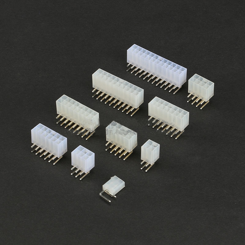 Free ship 20Pcs <font><b>5557</b></font> Curved pins <font><b>4.2mm</b></font> double row Female socket plug 1P 2P 3P 4P 5P 6P 7P 8P 10P 12P Connector image