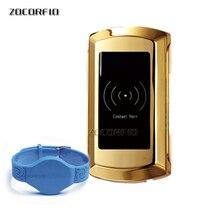 Electronic locker 125khz RFID Smart door lock for cabinet locker sauna and office hotel home swimming pool+1 pcs wristband
