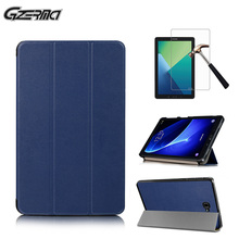 Magnetic Flip Protective Shell Stand Cover Case For Samsung Galaxy TAB A 10.1 P580 With S Pen Smart Tablet Cases Cover+Film