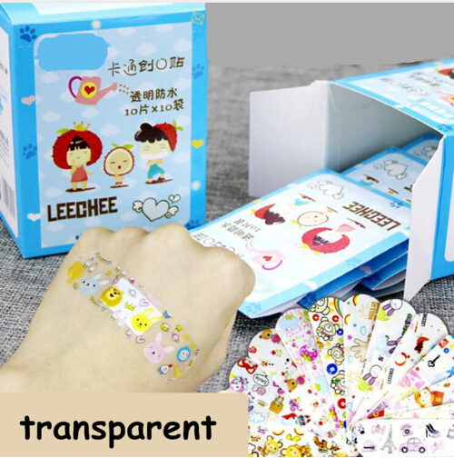 10pcs Cute Cartoon Waterproof Breathable Band Aid Hemostasis Adhesive Bandages First Aid Emergency Kit For Kids Children