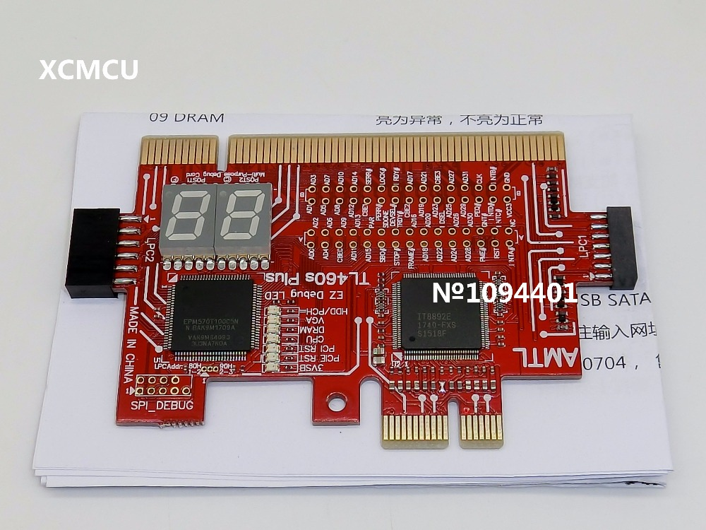 все цены на 1pcs* TL460S PLUS PCI-E LPC Motherboard Diagnostic Test Analyzer Post Test Debug Cards онлайн