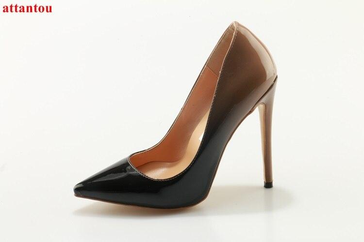 Модные Обувь на высоком каблуке пикантные женские туфли на тонком каблуке женские туфли-лодочки без шнуровки с острым носком обувь для вече... ...