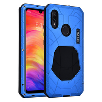 Daily Waterproof Case For Xiaomi Redmi Note 7 Shockproof Heavy Duty Tank Silicone Aluminum Metal Cover For Redmi Note 7 Pro Case