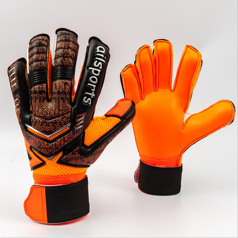 2018 New Professional Mens Soccer Goal Keeper Gloves Finger Protection  Thick Soccer Bola De Guantes Futbol Luvas De Guarda Redes-in Goalie Gloves  from ... 1400da39c
