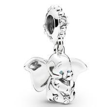2019 New Arrival 925 Sterling Silver Bead Dumbo Pendant Beads for Jewelry Making fit Original Pandora Bracelet Women DIY