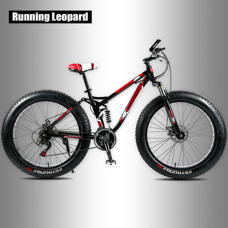 Running Leopard Fatbike Fat Bike Mountain Bike 26 inch 24 speed adult bikes. Children bicycle Road bikes, snowy beach bicycles