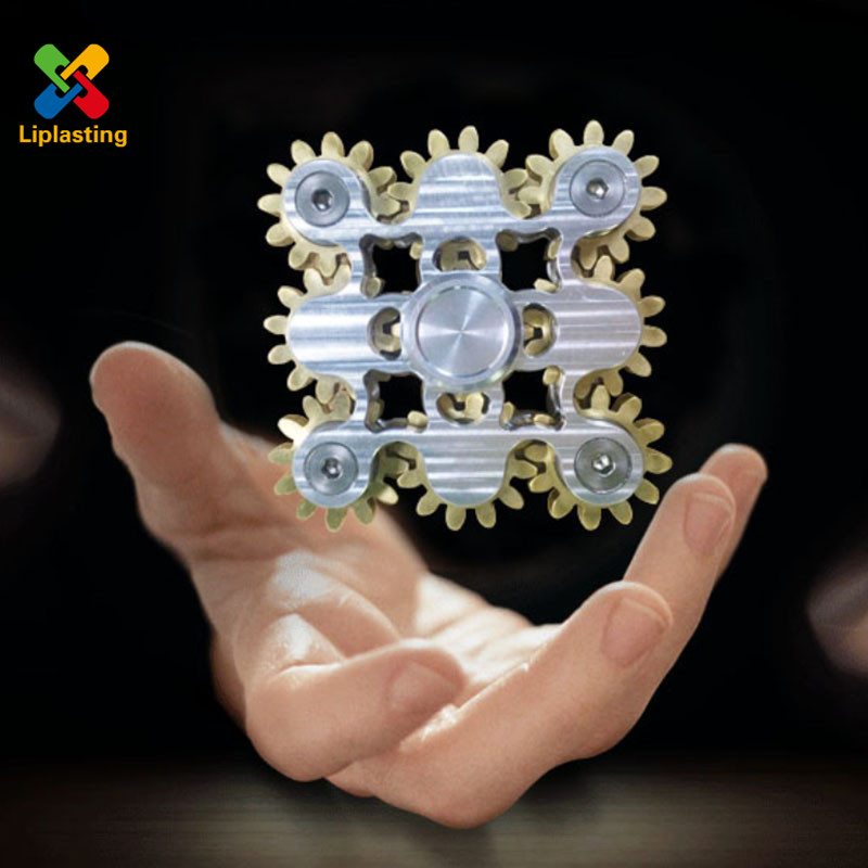 2017 New 9 Gears Fidget Hand Finger Spinner Top Gyro Toys EDC ADHD Metal Ball Bearings