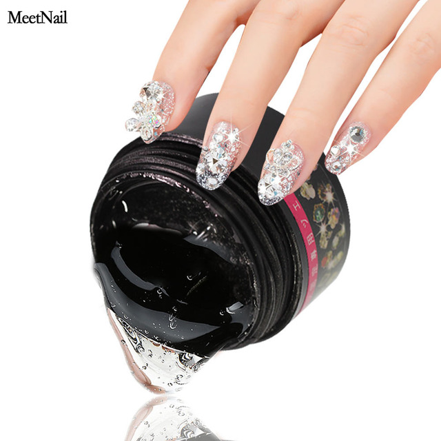 f05a81dc0a US $1.59 |MeetNail 1pcs Transparent UV Gel Nail Art Rhinestone Gel Glue  Super Sticky Use for Nail Tips Decoration Jewelry and Garment-in Nail Gel  from ...