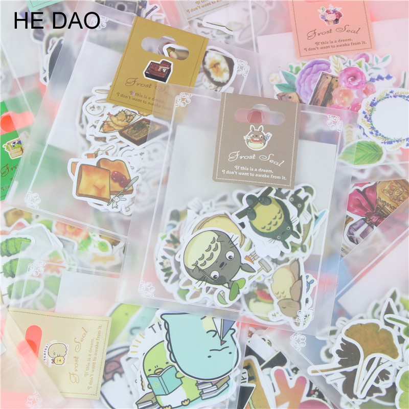 1 Bag Lovely Creative Cartoon Korean Style Decorative Stickers Adhesive Stickers Scrapbooking DIY Decoration Diary Stickers