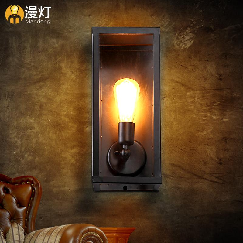 Fashion Brief Modern Bedside Balcony Stair Wall Lamp Clear Glass Box Restaurant Decoration Wall Lamp FreeShiping modern lamp trophy wall lamp wall lamp bed lighting bedside wall lamp