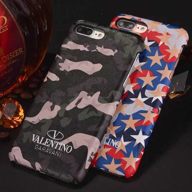buy popular ae64d 3e92b US $4.98 |Luxury Valentino Camouflage Butterfly Universe Stars Leather Case  For iPhone 6 6S 6 Plus 7 7 Plus Cover on Aliexpress.com | Alibaba Group