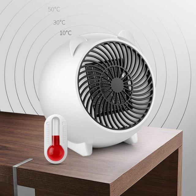 Mini 250w E Heater Portable Winter Warmer Fan Personal Electric For Home Office Ceramic Small