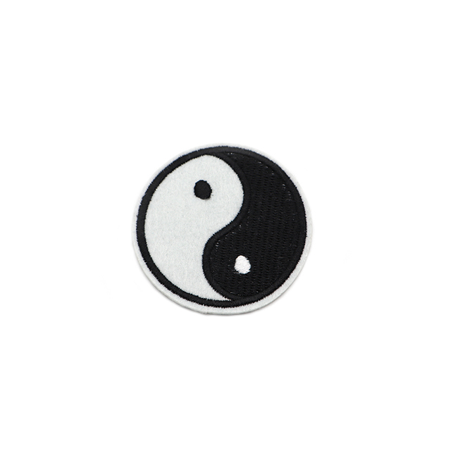 2pcslot Small Yin Yang Iron On Patch Embroidery Sewing Diy