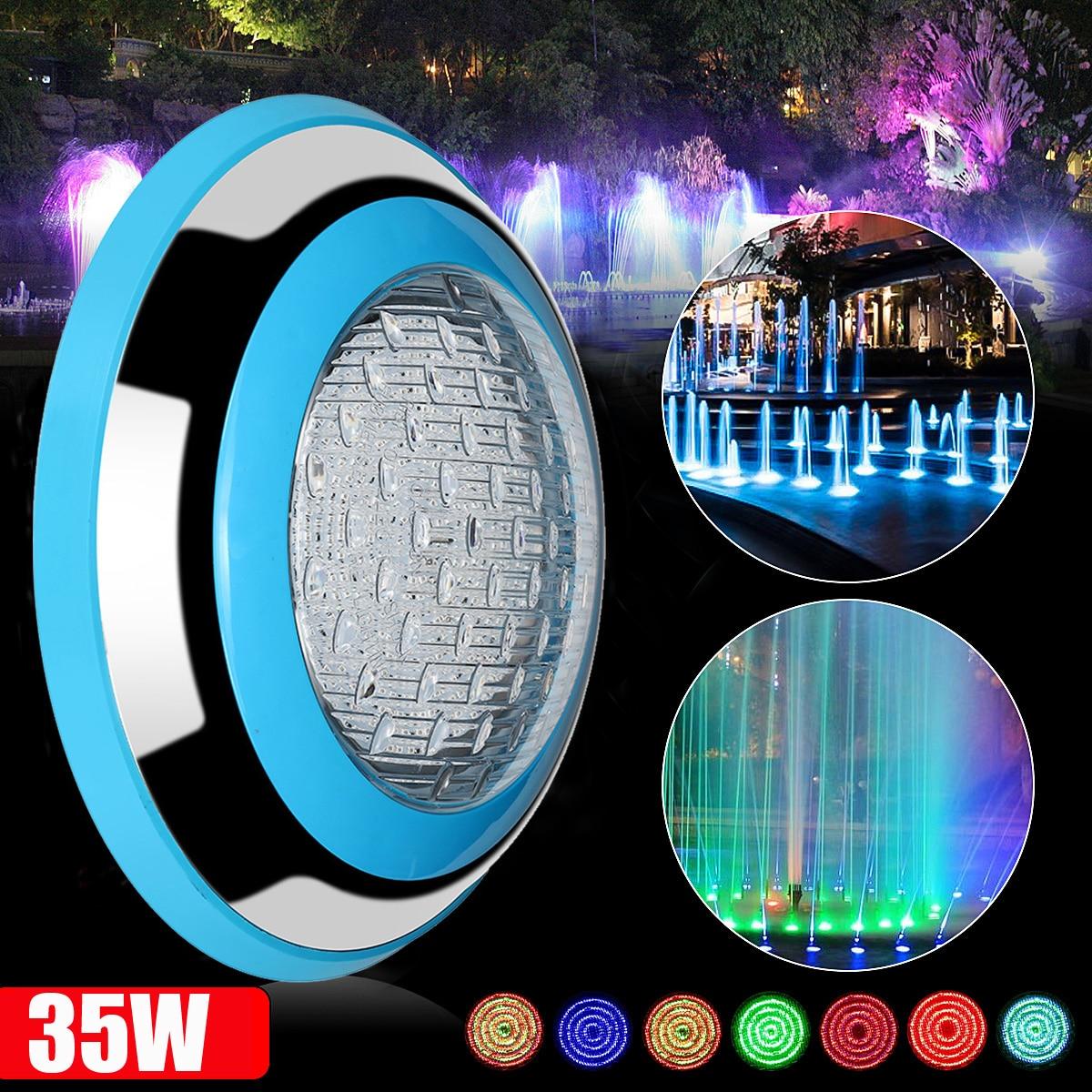 35 W LED Lumière Sous-Marine RVB Étang Piscine Extérieure 12 V Étanche Décoratif LED Éclairage + Sans Fil Télécommande