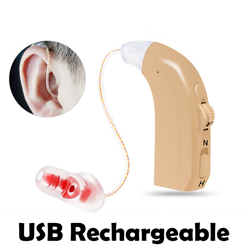 E31 Rechargeable Hearing Aid for The Elderly / Hearing Loss Sound Amplifier Ear Care Tools 2 Color Adjustable Hearing Aids e31 rechargeable hearing aid auidphones microphone amplifier to profound deaf hearing aids left right ear dropshippin