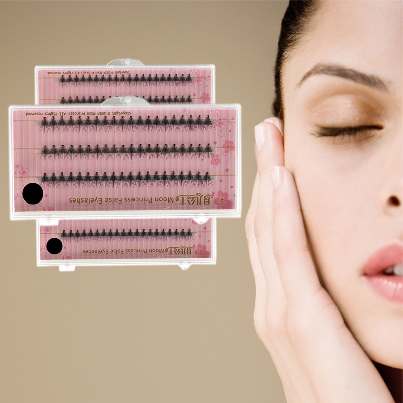 Individual Fiber EyeLashes Grafting Natural Artificial Eyelash Cluster Extension Black Lashes Big Eye Secret