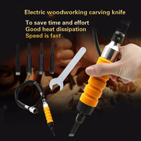 Electric Furniture Woodworking Root Carving Knife Tool Handle Soft Shaft Chisel