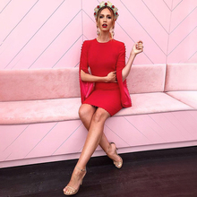 INDRESSME Autumn Women Bandage Full Flare Sleeve Sexy Lace Up Mini O Neck Lady Casual Party Dress Vestidos 2017 New Arrival