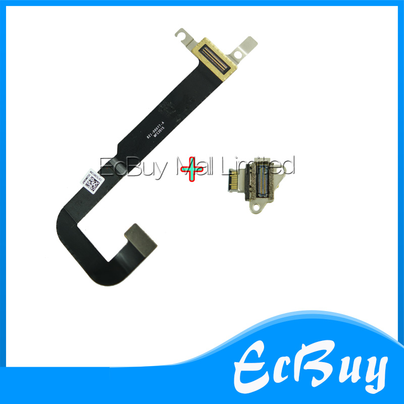 821-00077-A -02 I/O USB-C Board Flex Cable With DC Jack for Macbook A1534 DC Jack + IO Board USB-C Cable Connector 2015 year for macbook dc power jack 12 a1534 2015 usb c connector board mf855 mf865