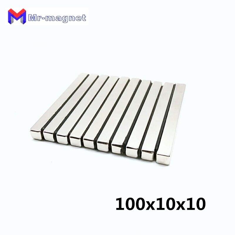 10pcs 100x10x10mm Super strong neo neodymium magnet 100x10x10 NdFeB magnet 100 10 10mm 100mm x 10mm
