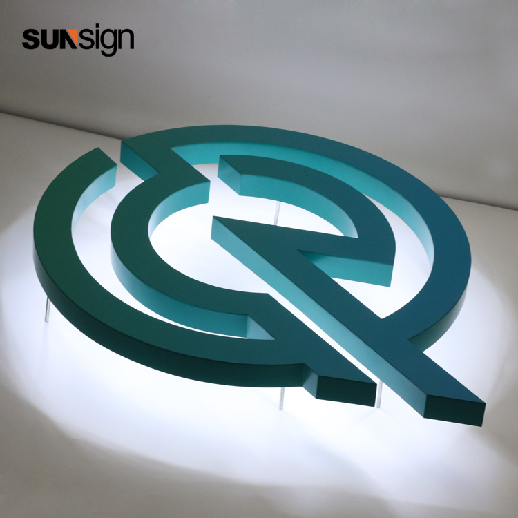 Acrylic Letter Sign Build Up Led Halo Lit Company Name Shop Sign