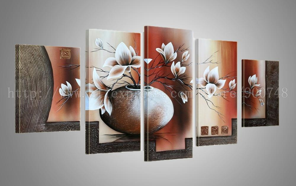 Canvas Painting Ideas Realistic Abstract Bathroom Background Handmade Oil Paintings For Living Room