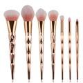 Professional 7pcs Makeup Brush Set Blush Powder Foundation Make up Brushes Cosmetic Rose Gold Makeup Brushes Makeup Kits Tools