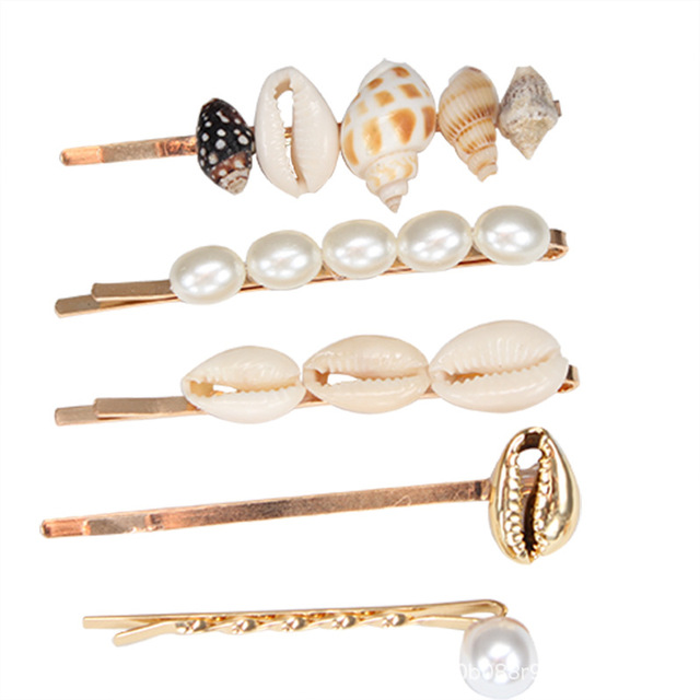5 Pieces Pearl Shell Hairpins Mawgie