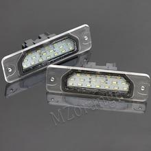 MZORANGE 1 pair LED Car Number License Plate Lights For NISSAN 350Z 370Z GTR for INFINITI  G25 G35 G37