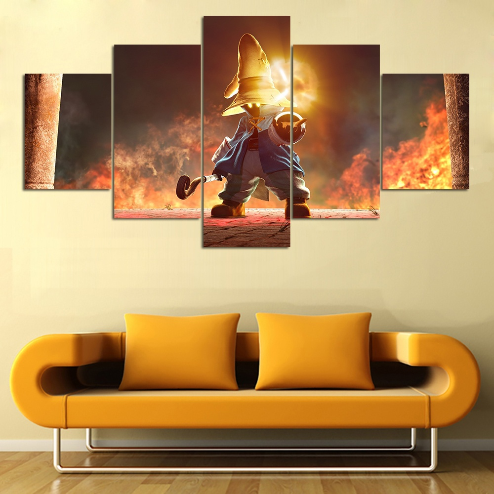 5 Piece Games Final Fantasy Poster Veigar Picture Sofa Background ...
