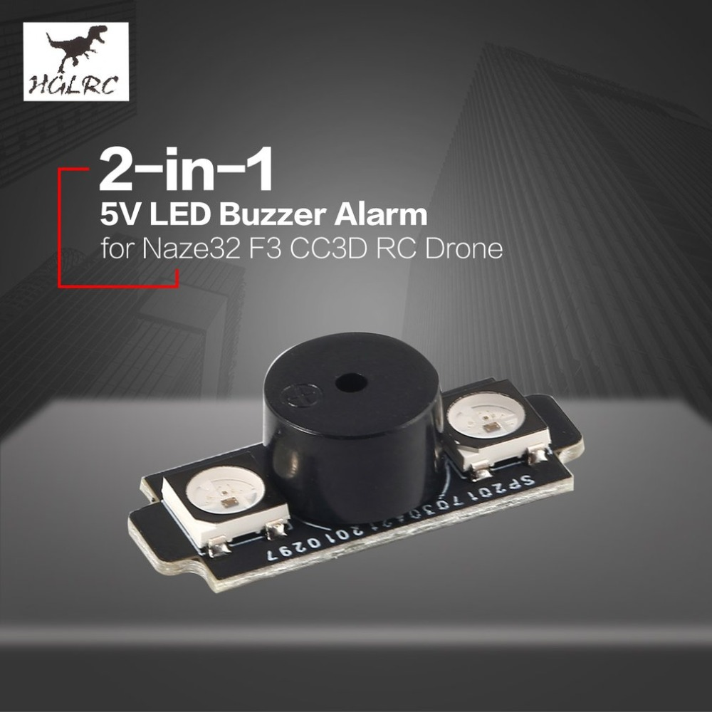 HGLRC 2-in-1 WS2812B 5V LED with Alarm Buzzer Motor base light for Naze32 F3 CC3D Flight Control FPV RC Drone Helicopter image