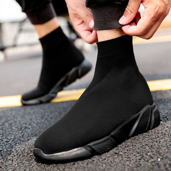 MWY Breathable Ankle Boot Women Socks Shoes Female Sneakers Casual Elasticity Wedge Platform Shoes zapatillas Mujer Soft Sole 20