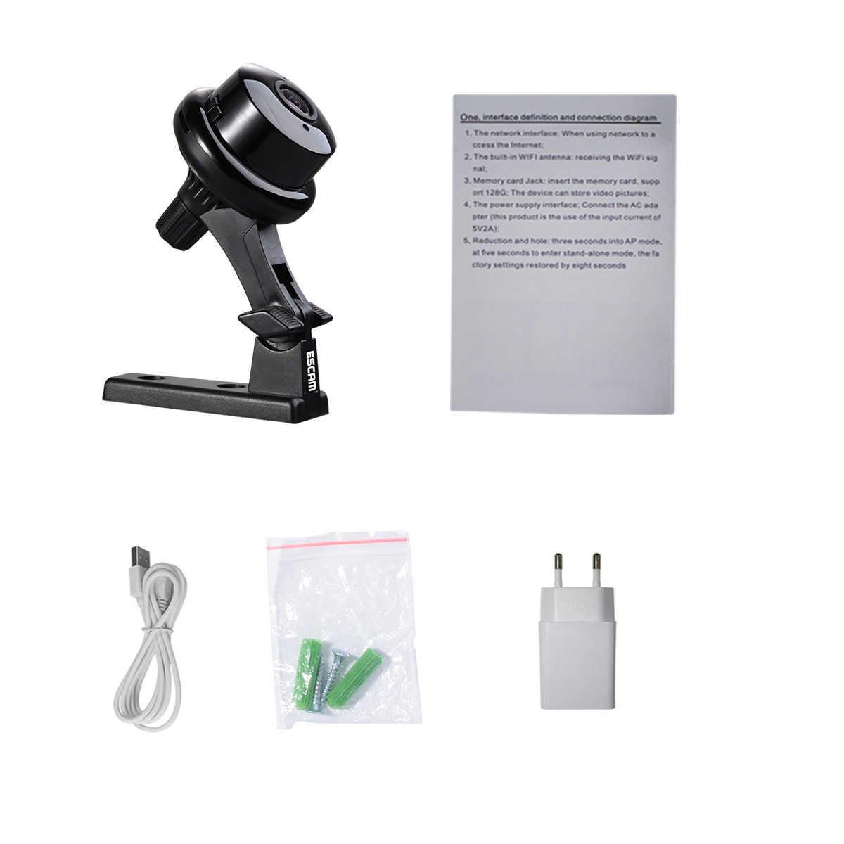 ESCAM Q6 1.0MP 720P Кнопка мини-беспроводная камера Wifi двухсторонняя голосовая домашняя IR-CUT ночного видения CCTV Домашняя безопасность ip-камера Wi-Fi