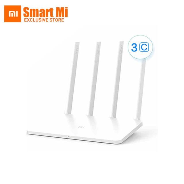 Original Novo Mais Rápido 2.4G Xiaomi Router WI-FI 3C ROM 64 MB 300 Mbps Wi-fi Repetidor Inglês Versão APP Controle wi-fi Roteador