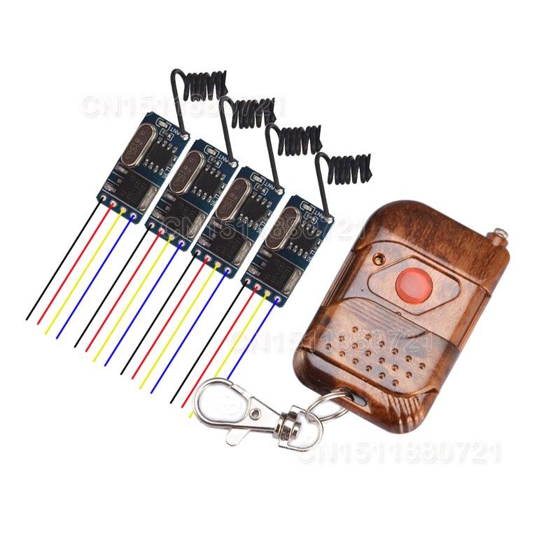 DC3.6V 3.7V 4.5V 5V  9V 12V RF Remote Controller Wireless Receiver RX Transmitter TX Light LED Lamp Power Remote ON OFF led телевизор panasonic tx 43dr300zz