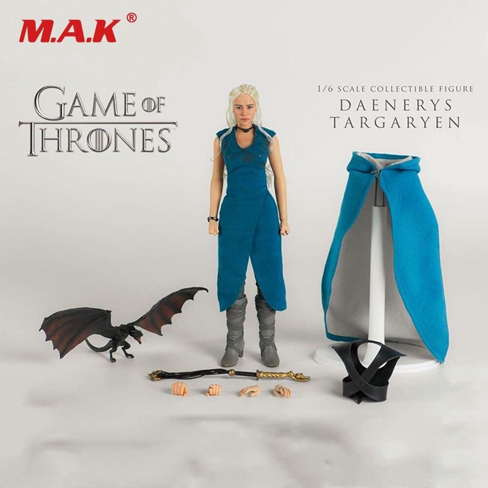 1/6 Escala Figura de Ação Conjunto Completo ThreeZero Game of Thrones Figura 3Z0018 Normal Ver. Daenerys Targaryen Toy Modelo para Coleção