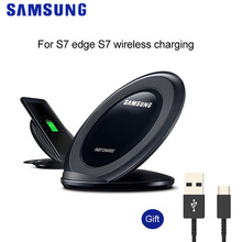 цена на Original Samsung Wireless Charger Qi Pad Fast Charge For Samsung Galaxy S10 S9 S8 Plus S7 edge Note10 iPhone 8 X XR EP-NG930