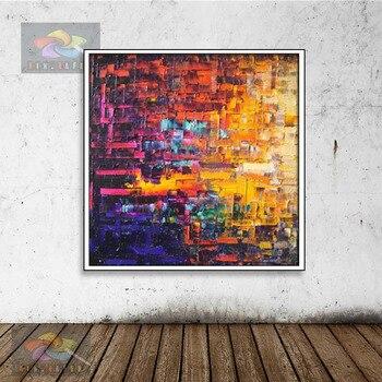 Malerei Handgemalte Abstrakte Moderne Wand Malerei baum Straße Palette Messer Malerei Auf Leinwand Home Dekoration KOP-056